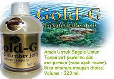 Medicinal Herbs Gold-G Sea Cucumber Jelly With Severe Drug Recommended in To Eliminate Scars And Wounds heal Or Can Overcome Acne.