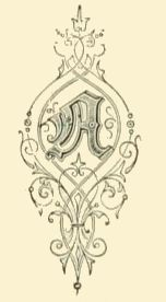Vintage illuminated letter A.