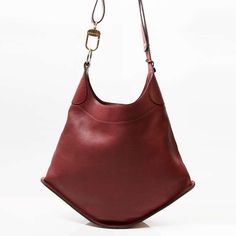 Delvaux 'Satan' Bordeaux Bag | From a collection of rare vintage handbags and purses at http://www.1stdibs.com/fashion/accessories/handbags-purses/