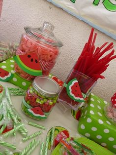 ideas for baby girl birthday watermelon Baby Shower Watermelon, Watermelon Birthday Parties, 1st Birthday Party For Girls, Fruit Birthday, First Birthday Themes, Watermelon Party Supplies, Birthday Ideas, Watermelon Crafts, 1st Birthdays