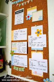 Echoes of Laughter: A Kitchen Recipe Board...