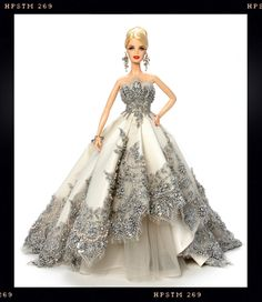 """Silver Splendor Barbie"" OOAK doll auctioned off for charity at the 2014 Grant A Wish Convention"