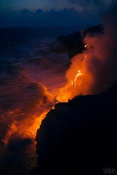 Hiking the lava fields of Hawaii's big island