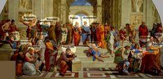 La Escuela de Atenas. Rafael Sanzio.1510-1511.En la Stanza de la Segnatura del Vaticano se encuentra uno de los frescos más impresionantes del Renacimiento italiano. Fruto del pensamientohumanista...