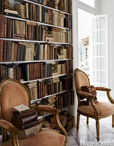 Home Library Design Ideas - Pictures of Home Library Decor - House Beautiful