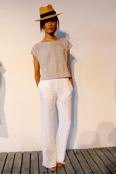 Steve Alan, Spring 2011 - linen pants with neutral top