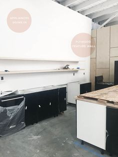 I'm happy to share some progress on the kitchen I designed for Light Lab! I popped over there last weekforthe countertop install day and it is all really starting to come together… Well, first thing's first… I am going to start with that beauty of a before photo. Not a lot going on but a …