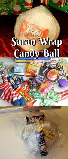 Have You Heard Of The Saran Wrap Candy Ball Game? The Saran Wrap Candy Ball Game. - Have You Heard Of The Saran Wrap Candy Ball Game? The Saran Wrap Candy Ball Game is one of those un - Xmas Games, Holiday Games, Halloween Party Games, Kids Party Games, Holiday Fun, Family Party Games, Sleepover Games, Tween Party Ideas, Baseball Party Games