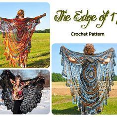 Crochet Vest Pattern, Bohemian Vest, Stevie Nicks Style, Shawl Cape Vest