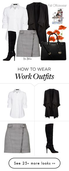"""Fall Officewear"" by debbie-michailides on Polyvore featuring Steffen Schraut, Topshop, GUESS and MICHAEL Michael Kors"