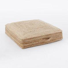 Braided Jute Floor Cushion   west elm
