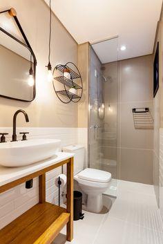 Apartamento MG por Luciana Ribeiro Arquitetura | homify Bathroom Design Small, Apartment Design, My Room, Sweet Home, Bathtub, Mirror, Apartments, Furniture, Interiors