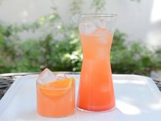 Tangerine Campari Cocktail  1 cup #Campari 1 cup añejo #tequila 1 cup fresh-squeezed tangerine juice from about 6 tangerines (see note above) 1 1/2 cups seltzer water Garnish: 4 tangerine wedges  Mix in a #pitcher