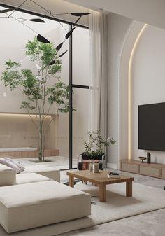 Home Room Design, Dream Home Design, Living Room Designs, Living Room Interior, Home Living Room, Modern Interior Design, Interior Architecture, Minimal Home Design, Bedroom Interior Design