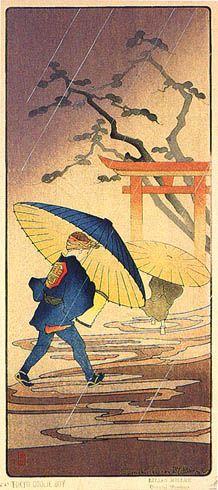 hanga gallery . . . torii gallery: Tokyo Coolie Boy A by Lilian Miller