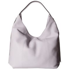 Rebecca Minkoff Bryn Double Zip Hobo (Pale Lilac) Hobo Handbags ($236) ❤ liked on Polyvore featuring bags, handbags, shoulder bags, leather purses, leather hand bags, man bag, hobo purses and hobo shoulder bags