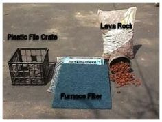 Materials for building the pond filter