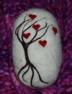 Felted Soap Tree Of Hearts Valentines Day by BondurantMountainArt, $12.00