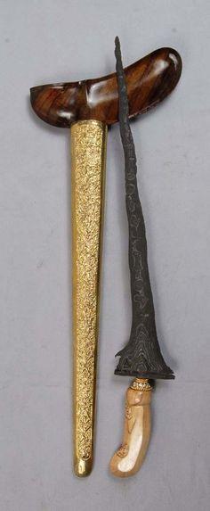 Old Keris 9 Luk Sempana Kalentang Junjung Drajat Segaluh Javanese, Arrows, Sword, Weapons, Traditional, Metal, Art, Swords, Cold Steel