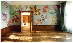 hand painted wall mural on paper by Wouter Dolk