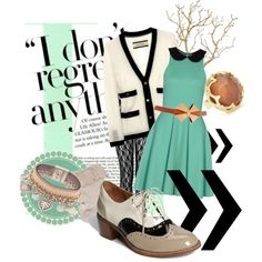 cream.black.tan.mint?, created by kuhlair3.polyvore.com