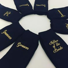 Best man socks, groom socks, usher socks, black socks, gold wording, w – personalised diamante