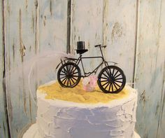 Bicycle Cake Topper Nature Lovers Cake Topper by sugarplumcottage