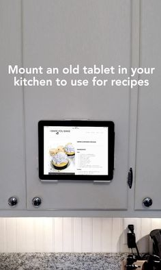 Love this kitchen tablet tip! Sponsored.