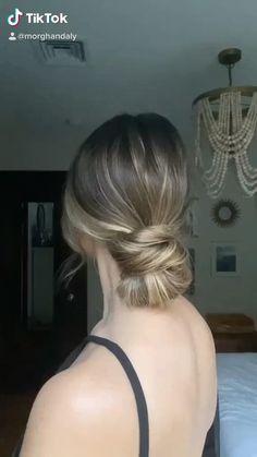 Up Dos For Medium Hair, Medium Hair Styles, Short Hair Styles, Ball Hairstyles, Bun Hairstyles For Long Hair, Easy Updo Tutorial, Bridal Hair Inspiration, Hair Hacks, Hair Makeup
