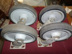 4 vintage large rubber wheels by rustyitems on Etsy