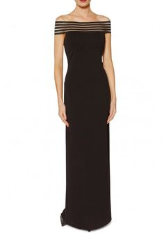 Gina Bacconi Zarina Maxi Dress in Black From Little Black Dress Making you feel fabulous. Black Wedding Dresses, Formal Dresses, Black Tie Gown, Dress Making, Classy, Gowns, My Style, How To Wear, Fashion