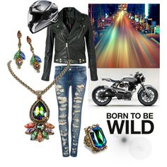 """""""Born to be Wild"""" by sweet-romance on Polyvore: Chicks ride motorcycles, too... Shop the Soul on Fire jewelry collection: http://www.sweetromanceonline.com/Soul_on_Fire_s/441.htm"""