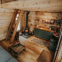 Tiny Cabins, Tiny House Cabin, Tiny House Living, Tiny House Design, Cabin Homes, Log Homes, Tiny Homes, Ideas Cabaña, Casas Containers