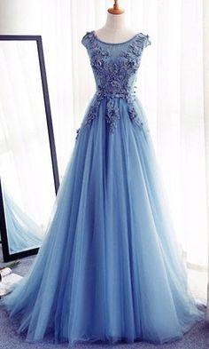 prom dresses,Appliques A-Line Prom Dresses,Long Prom Dresses 2017,Cheap Prom Dress, Evening Dresses Prom Gowns,Formal Women Dress
