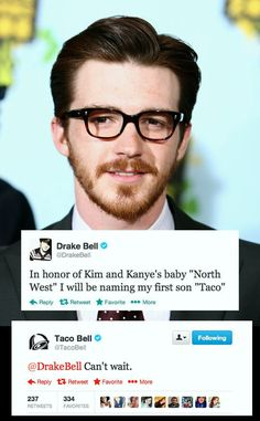 More importantly, Drake Bell is all grown up! Haha, he looks like he's about to tell you some disturbing medical news.