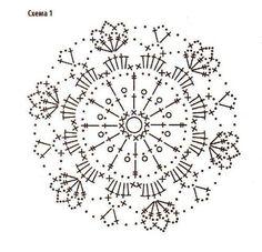 Crochet tunic of motifs Crochet Snowflake Pattern, Granny Square Crochet Pattern, Crochet Snowflakes, Crochet Diagram, Crochet Round, Doily Patterns, Crochet Chart, Crochet Squares, Thread Crochet