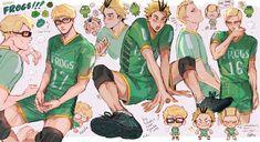 Haikyuu Manga, Haikyuu Tsukishima, Haikyuu Funny, Haikyuu Fanart, Hinata, Tsukkiyama, Japon Illustration, Kurotsuki, Volleyball Anime