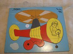 Vintage Playskool Childs Wooden Puzzle by PlasticVoodoo on Etsy, $12.99