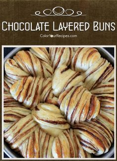 Simple Chocolate Layered Bread Recipe (1) ~ Color Your Recipes