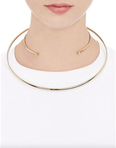 The Best 90s-Inspired Choker Necklaces to Shop Now | Maison Margiela double floating collar, $299; at Barneys New York