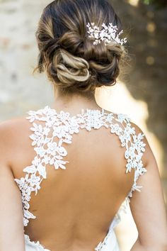 Backless Wedding Dress   Bridal Up Do   Elegant Provence Wedding Inspiration From Mademoiselle Events With Images From Nicolas Elsen