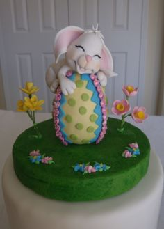 Gumpaste Easter rabbit. So adorable