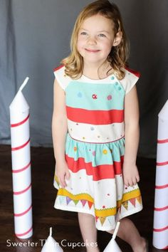 Party Raglan Sleeve Dress Sweeter Than Cupcakes