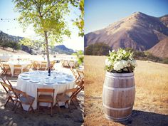 Mountain wedding. Simple decor with amazing views.