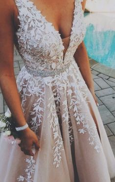 A-Line V-Neck Champagne Tulle Prom Dress with Beading Appliq.- A-Line V-Neck Champagne Tulle Prom Dress with Beading Appliques princess light champagne long prom dresses, formal graduation party gowns with appliques, beautiful a line prom dresses - V Neck Prom Dresses, Tulle Prom Dress, Long Wedding Dresses, Dance Dresses, Wedding Gowns, Champagne Homecoming Dresses, Prom Dreses, Champagne Wedding Dresses, Wedding Dress For Short Women