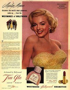 Marilyn Monroe y el maquillaje de los años 50