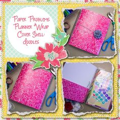 Planner wrap covers & more for Erin Condren, Plum paper, inkwell press, limelife, simplified life, arc, mambi happy planner & more. Visit my Etsy listing at https://www.etsy.com/listing/230182609/clearance-pink-doodles-wrap-planner