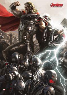 Avengers 2 Thor Mighty Wall Art