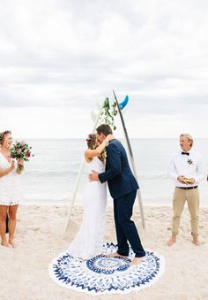 VIC-beach-coast-barefoot-boho-bride-melbourne-wedding #weddingrecemony repinned by wedding accessories and gifts specialists http://destinationweddingboutique.com