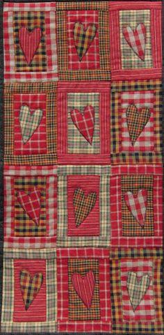 Plaid valentine quilt by Marjo (The Netherlands). MBW quilts en andere stofzaken: februari 2012